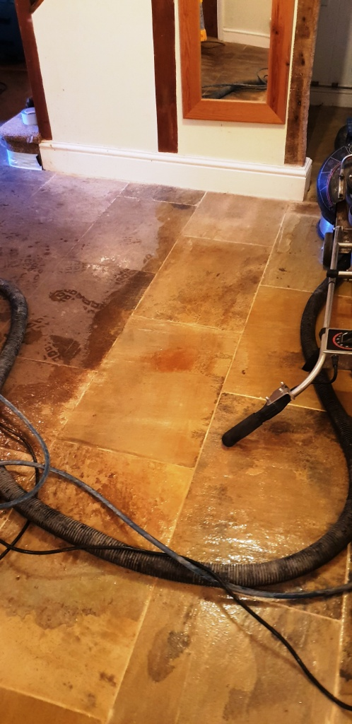 Deep Cleaning Flagstones