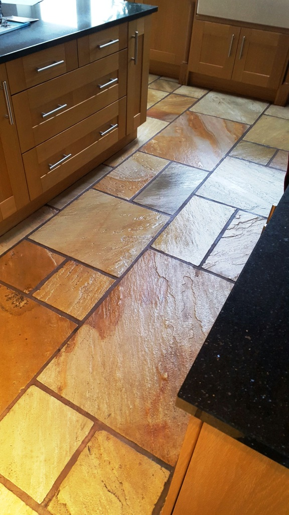 Kitchen Flagstone Floors