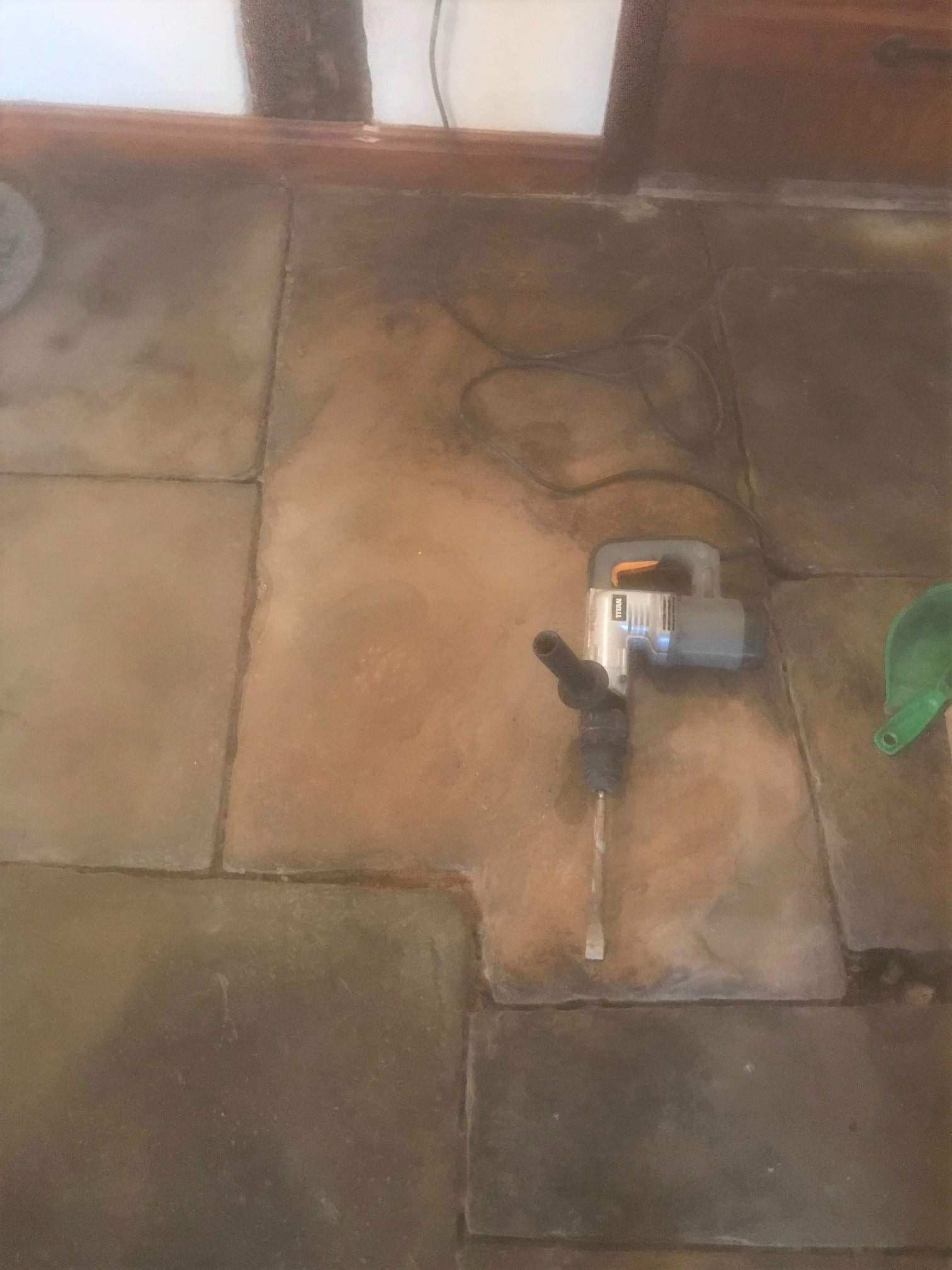 Re-Pointing Flagstone Floors