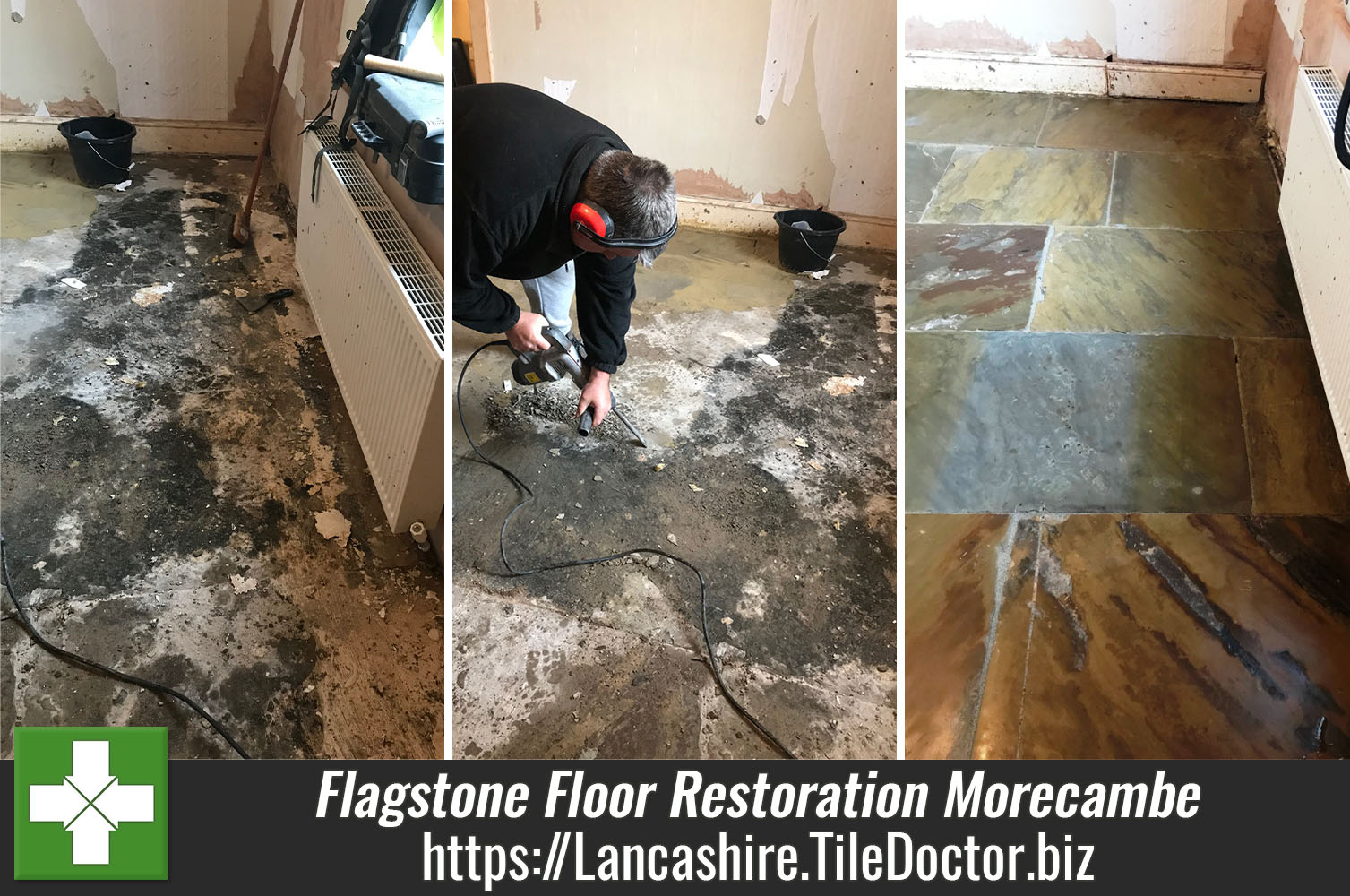 Flagstone Floor Restoration Morecambe